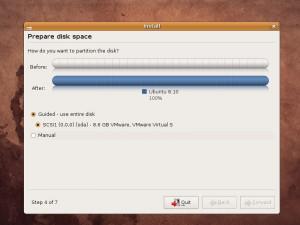 Preparing Diskspace