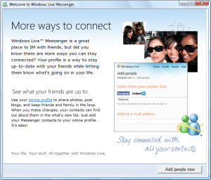 More Ways to Connect - Windows Live