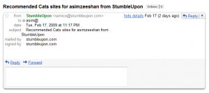 Stumbleupon empty email? doesn't make any sense