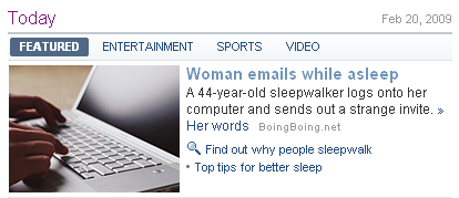 Woman emails while asleep