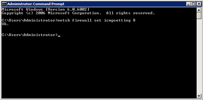 Windows 2008 command prompt