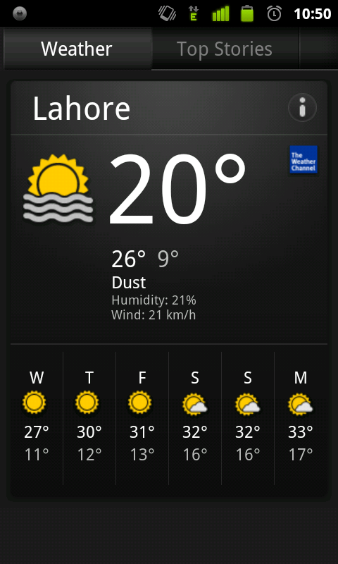 Dust storm in Lahore