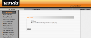 Configuring 3G150M Router - Step 1