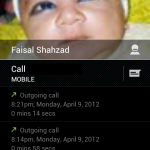 The call log, sleak!!!