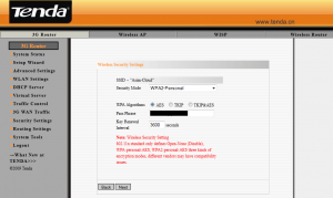 Configuring 3G150M Router - Step 4