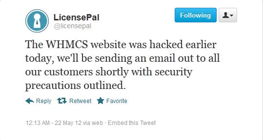 LicensePal tweet