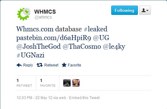WHMCS Tweet