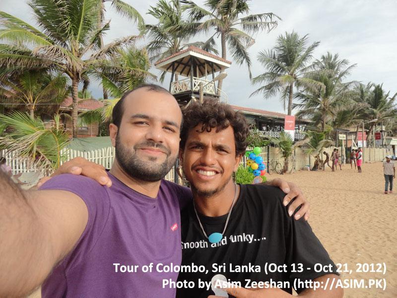 SriLanka tour - me with local