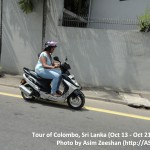 SriLanka tour - Woman on bike