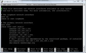 Ubuntu network interface
