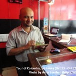 SriLanka tour - Shafique, local restaurant owner
