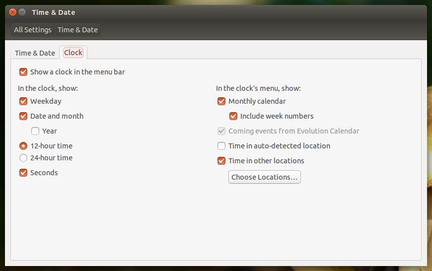 Ubuntu 14.04 LTS - Time & Date